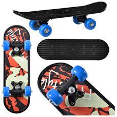Skateboard Mini (44 X 13 X 10 Cm) (abec 7 - Cuscinetti A Sfera) (3 Motivi) Tavola Completa / Tavola Vintage / (motivo B - Freestyle)