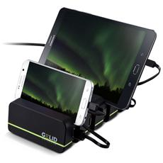 I-CHARGE-FOURZA - Docking Station 4 Porte USB Ricarica Smartphone e Tablet Fourza