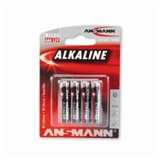 Confezione 4 Batterie Alcaline AAA