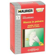 Stucco in Polvere 1 Kg Maurer per attaccare rosoni, cornici, piastrelle, etc.