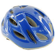 Casco ciclismo bike junior roll fit racing PONY blu lucido 013595 Taglia ONE