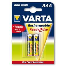 Confezione da 2 Batterie Ricaricabili AAA Ready2Use NiMH