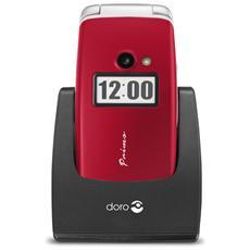 """Primo 413 Senior Phone Display 2.4"""" Micro SD Bluetooth con Tasti Grandi + SOS Fotocamera Colore Rosso"""