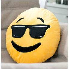 621042 Cuscino Emoticon Con Occhiali Da Sole Emoji Pillow Faccine Diametro 30 Cm