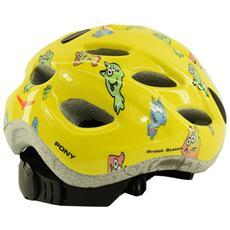 Casco ciclismo bike junior roll fit racing PONY giallo fantasia 013595 Taglia ONE
