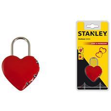 Heart Shaped Padlock, Combination lock, Gate, Self storage, Storage locker, Rosso, Acciaio inossidabile, Nichel, Zinco, Acciaio, Rotondo
