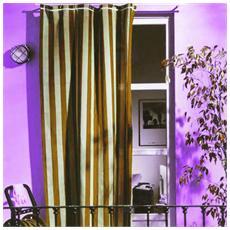Tenda da sole per portoni e balconi in cotone cm 140x250 marrone