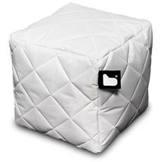 Pouf Outdoor B-box White Trapuntato