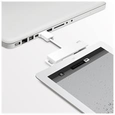 Cavo per trasferimento dati iLuv CuteSync ICB12 - USB - for iPad, iPod, iPhone, Telefono Cellulare - 1 x Tipo A Maschio USB - 1 x Maschio Micro USB, 1 x Maschio Connettore proprietario - Bianco