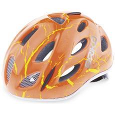 Casco ciclismo bike junior roll fit racing PONY MAGMA FLUO rosso 013595 Taglia ONE