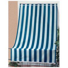 Tenda da sole per portoni e balconi in cotone cm 140x300 blu