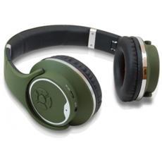 Cuffie con Microfono per PC Connessione Bluetooth Verde