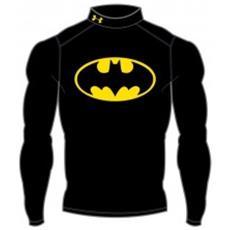 T-shirt Uomo Batman Evo Compression Coldgear Nero Giallo L