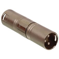 XLR 3p - M / M, XLR 3p, XLR 3p, Maschio / maschio, Bronzo, Metallo, 2 cm