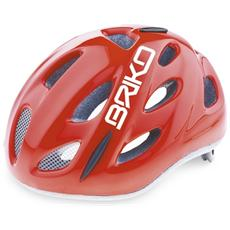 Casco ciclismo bike junior roll fit racing PONY rosso lucido 013595 Taglia ONE