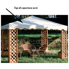 Ricambio Top di copertura per gazebo in legno 300 x 300