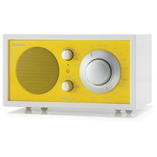 Model One Radio da Tavolo AM / FM ingresso AUX Colore Bianco / Giallo