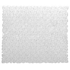 Tappeto bagno trasparente con ventose antiscivolo e antimuffa Pvc cm 54x54