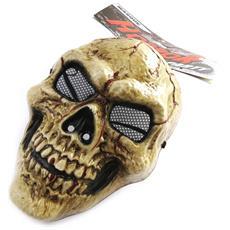 maschera travestimento 'tête de mort' marrone (partito orrore) - [ m9101]