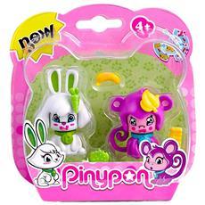 Pinypon - 2 Cuccioli - Coniglio E Scimmia