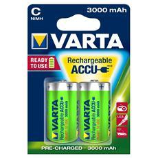 Blister da 2 Batterie 1/2 Torcia Ricaricabili da 2300 mAh Ready2Use