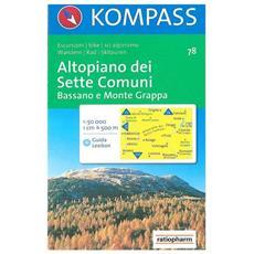 Carta escursionistica n. 78. Trentino, Veneto. Altopiano dei Sette Comuni 1:50.000