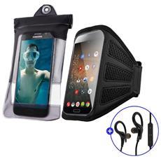 Fascia Da Braccio Sportiva Universale Smartphone Waterproof Auricolari