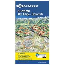 Südtirol. Alto Adige. Dolomiti 1:160.000 Ediz. italiana e tedesca
