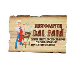targhetta in legno con magnete Ristorante dal papà