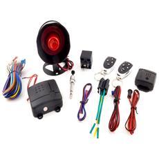 Antifurto Universale allarme auto Kit completo telecomandi sirena led sensore