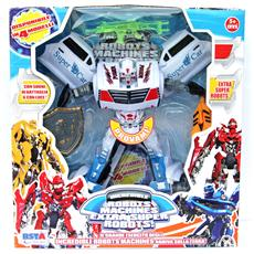 Robot Machines Transformers Cadillac Bianco Cm 20x22 Per Bambini Di 5 Anni + Eta'