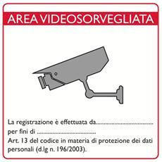 Cart01 Cartello Videosorveglianza Pvc Rigido 16x16