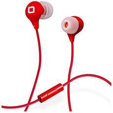 Auricolare in-ear Studio MIX35 colorato, Microfono e tasto risposta e fine chiamata - SBS ROSSO