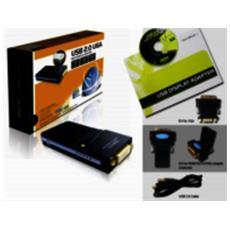 USBDVI USB 2.0 DVI Nero cavo di interfaccia e adattatore