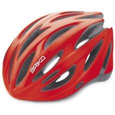 Casco ciclismo unisex in-moulding technology SHIRE rosso lucido 013596 # Taglia L