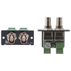 Video Adapter Kramer WV-2N - 2 x BNC Femmina Video - 2 x Blocco terminale