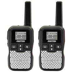 WTE2320 Kit Ricetrasmittenti PMR-Walkie&Talkie 446Mhz 8 canali e 38 sotto canali portata 5km nero / silver