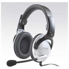 SB45 Stereofonico Padiglione auricolare Nero, Argento cuffia e auricolare