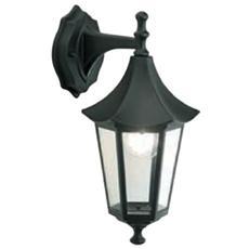 Applique in Basso Design Orientale Illuminazione da Esterno Nero 1 pz