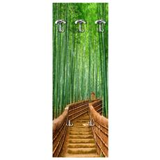 Appendiabiti Da Parete 49x139 Cm Bridge Bamboo