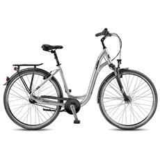 City Bike Ktm City Line 28.7 7v Nexus Coasterbrake Silver Opaco