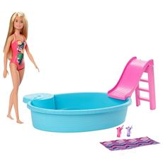 Playset Barbie con Piscina e Accessori