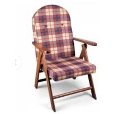 Poltrona sdraio amalfi in legno reclinabile 4 posizioni cuscino imbottito h 105 cm