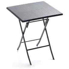 Tavolo quadrato in resina pieghevole cm 60