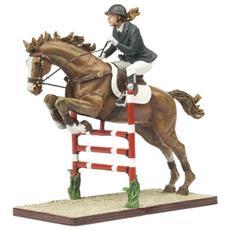 8738050 Cavallo E Fantino Saldo Ad Ostacoli Modellino