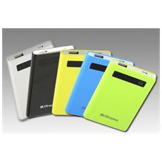 51510Y, Polimeri di litio (LiPo) , USB, Giallo, Micro-USB, Plastica, Universale