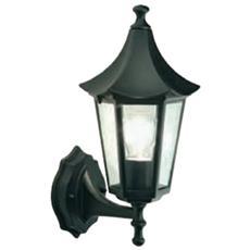 Applique in Alto Design Orientale Illuminazione da Esterno Nero 1 pz