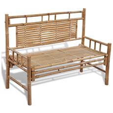 Panchina Di Bambù Con Schienale