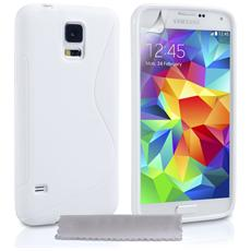 Cover Custodia Sline Silicone Tpu - Bianco - Samsung Galaxy S5 Mini