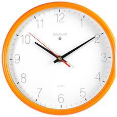 Orologio Parete Tondo Arancio Cm24 Arredo Casa